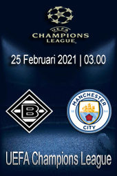 Live Streaming Borussia Monchengladbach vs Manchester City
